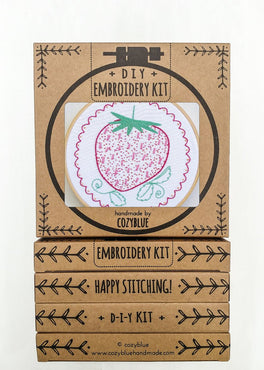 strawberry embroidery kit [last chance!]