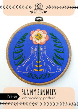 sunny bunnies iron-on embroidery pattern