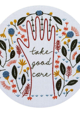 take good care pre-printed fabric embroidery pattern