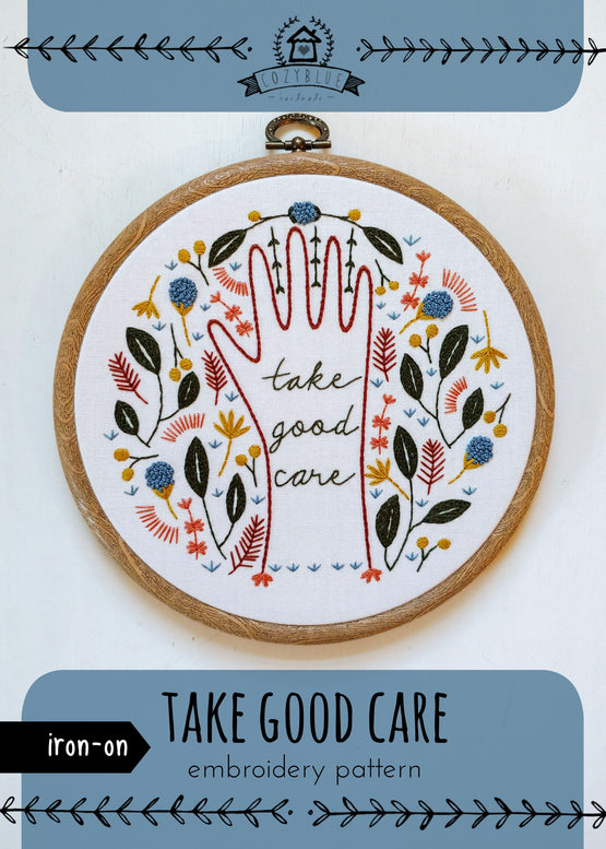 take good care iron-on embroidery pattern