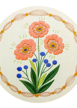 true bloom pre-printed fabric embroidery pattern