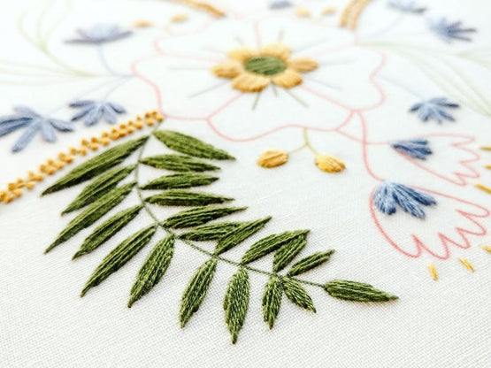 april flowers embroidery kit