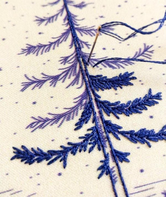 moonlight pine embroidery kit
