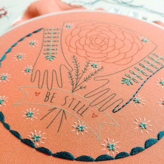 be still embroidery kit