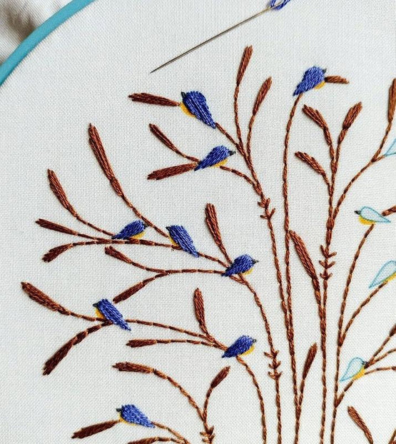 fall bluebirds PDF pattern