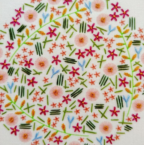 wildflower meadow embroidery kit