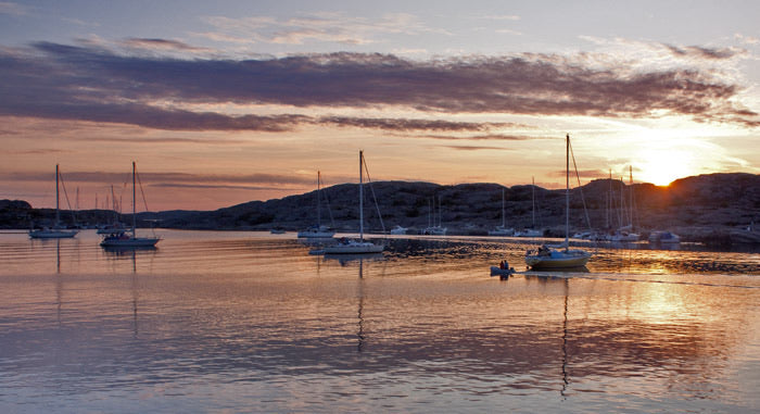 Sunset at Marstrand