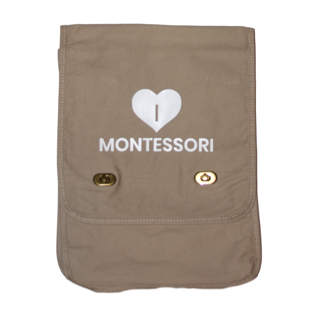 I Heart Montessori Messenger Bag