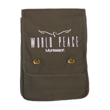 Load image into Gallery viewer, World Peace Montessori Messenger Bag