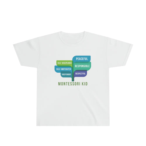 Montessori Kid Virtues Youth T-Shirt