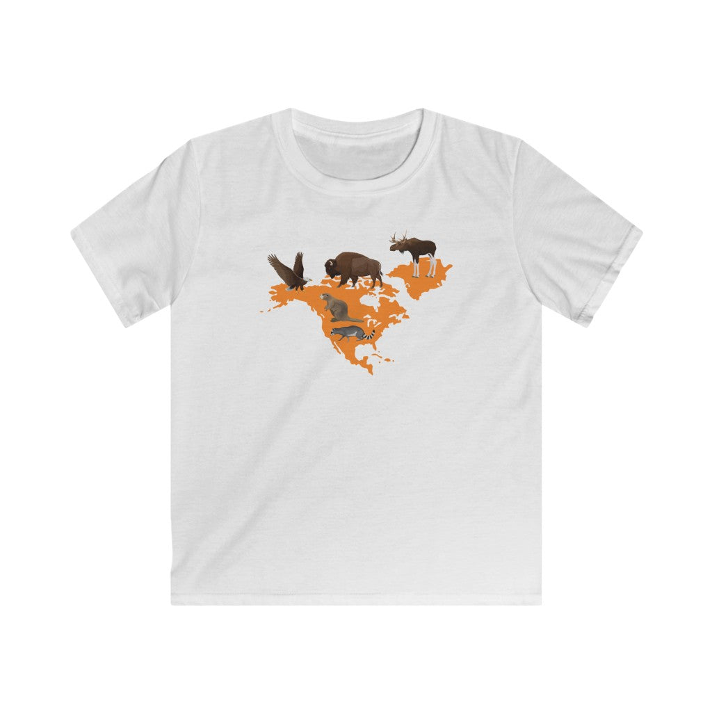 Animals of North America Kids T-Shirt