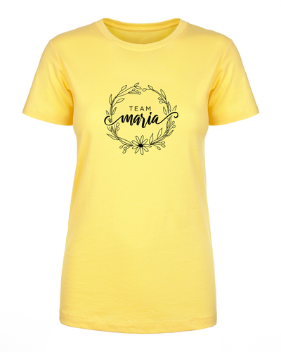 Team Maria Botanical Circle Women's Soft T-Shirt