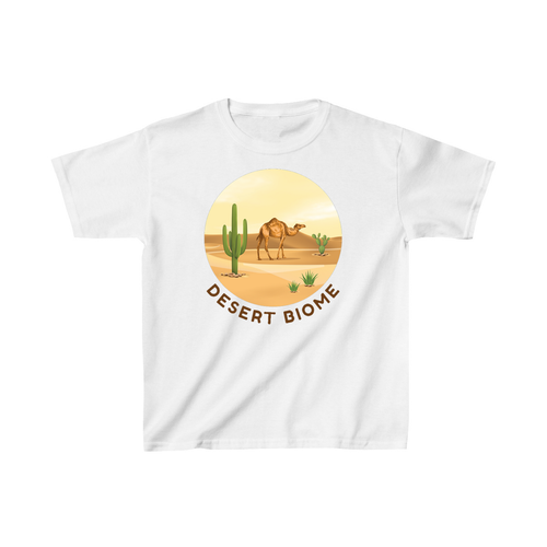 Desert Biome Camel Kid T-Shirt