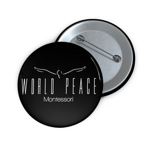 "2"" World Peace Montessori Pin Button"