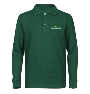 MVA Embroidered Long Sleeve Polo Shirt