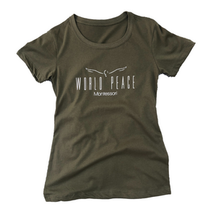 World Peace Montessori Women's Soft T-Shirt