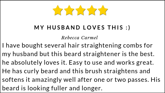 beard straightening comb review