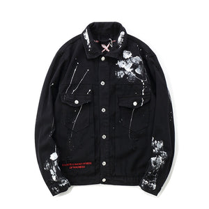 "88Glizzy ""Dark"" Black Jeans Jacket"