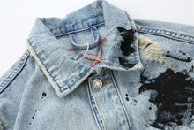 "Load image into Gallery viewer, 88Glizzy ""Graffiti"" Blue Jeans Jacket"