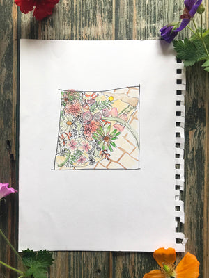 Flower Insta Square ~ Original Painting