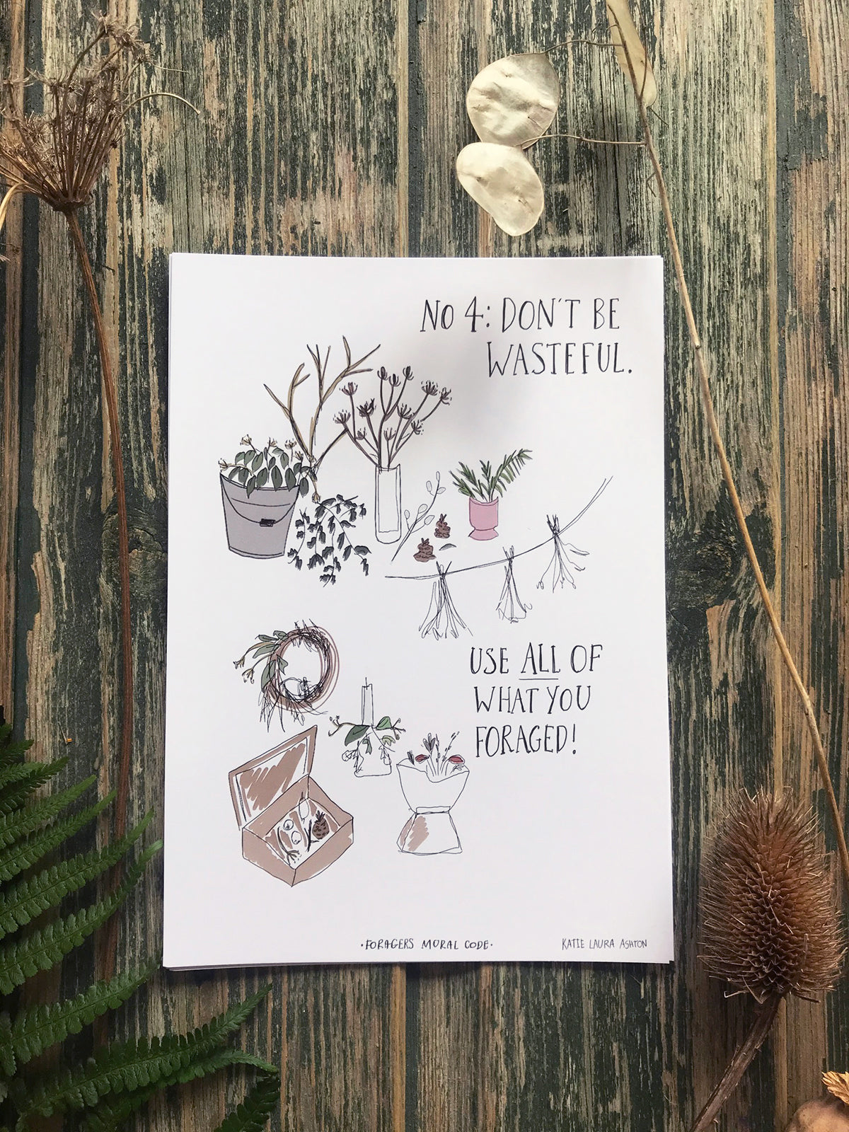 The Foragers Moral Code Print Set