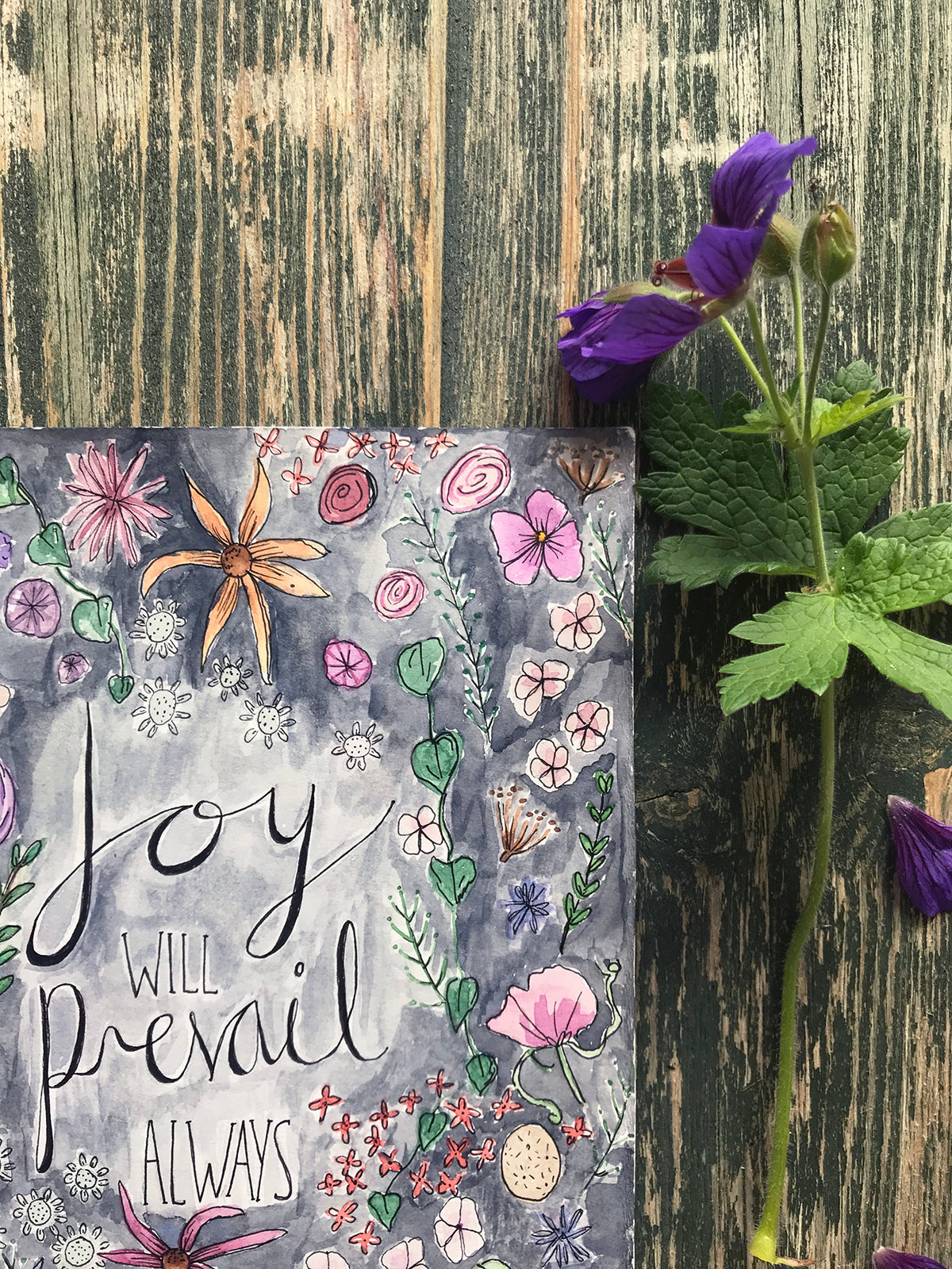 Joy Will Prevail Always ~ Original Painting