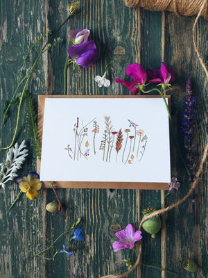 Summer Autumn Row ~ Greeting Card
