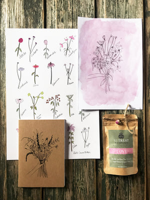 Dainty Florals & Love Tea Pack