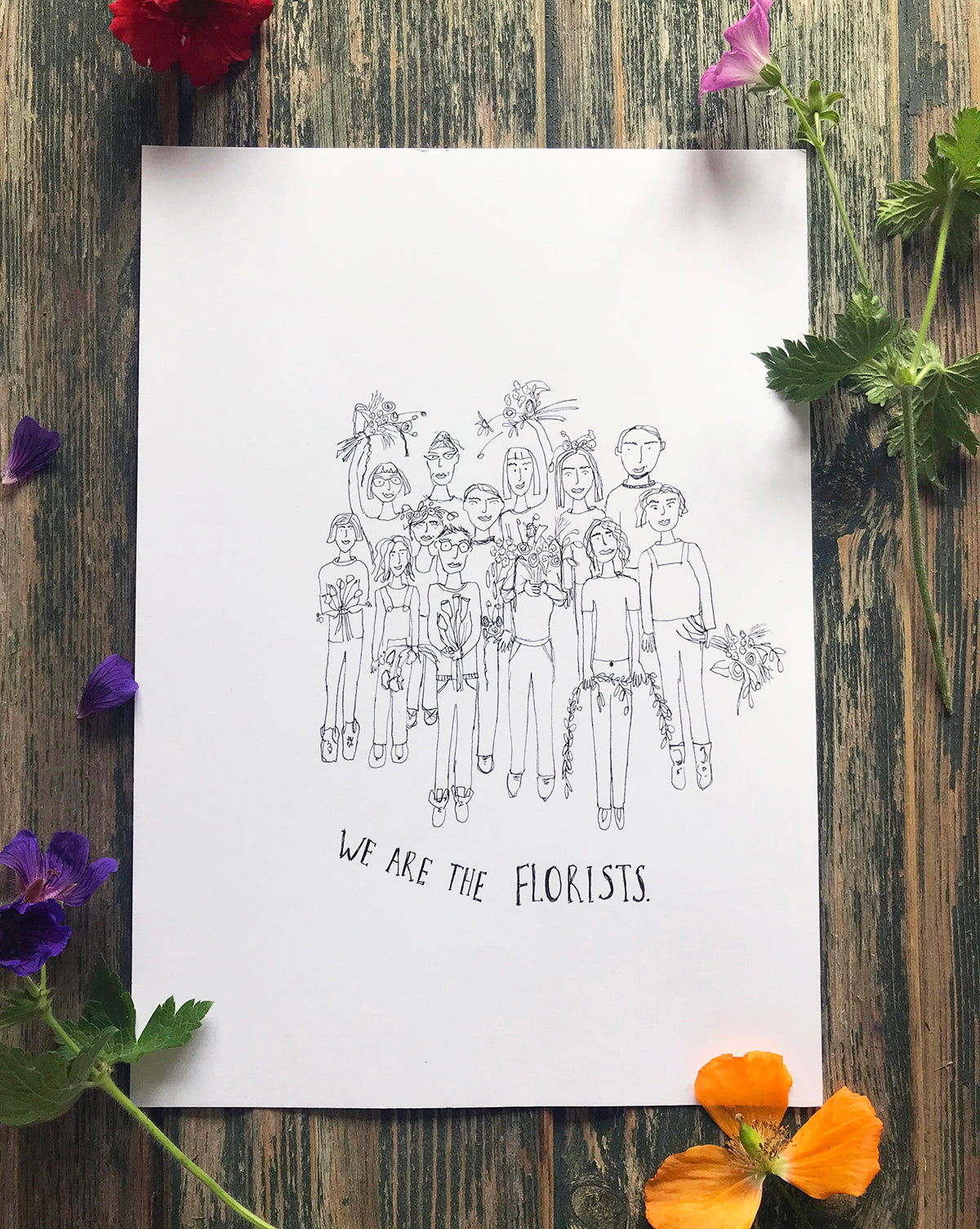 We Are The Florists ~ Original Ink Drawing
