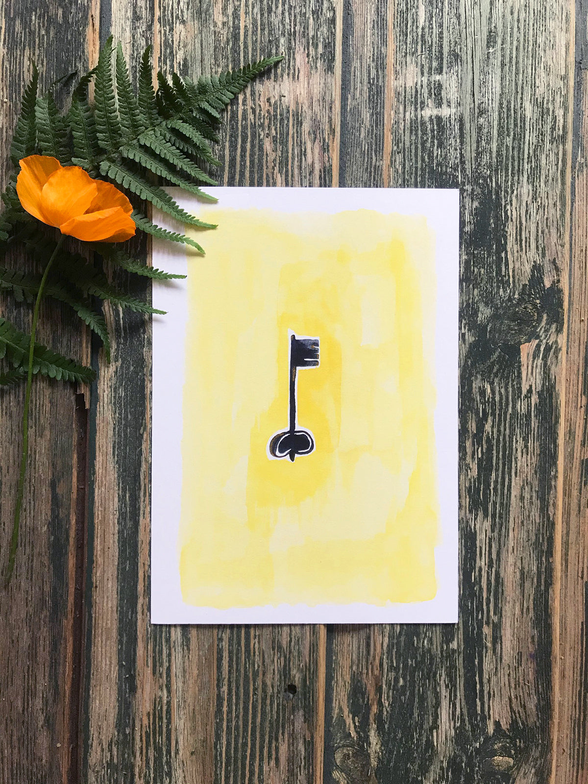 Yellow Key Print