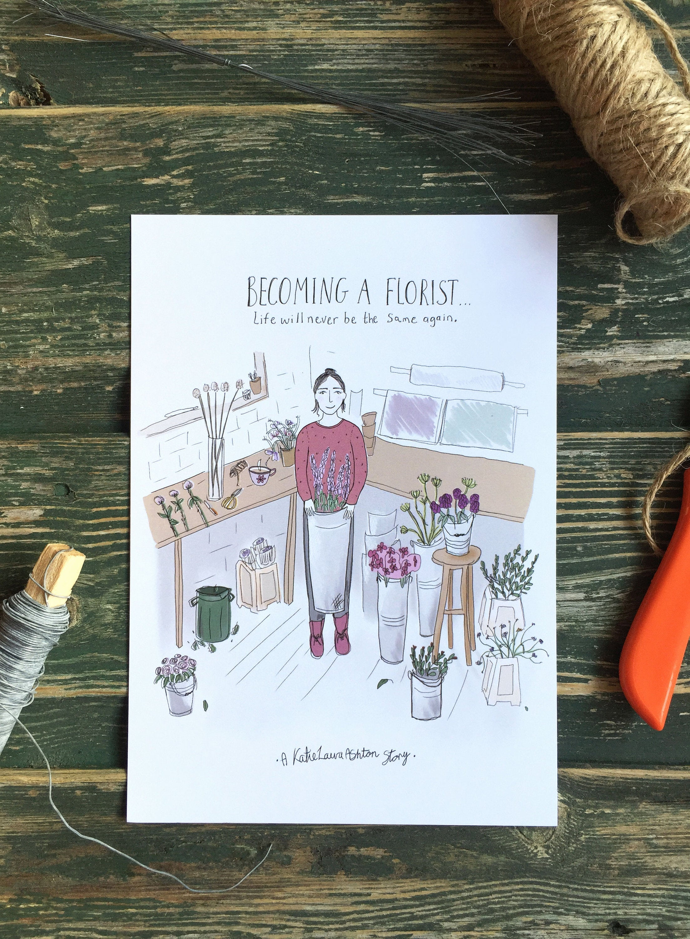 'Becoming a Florist' A5 Print Set