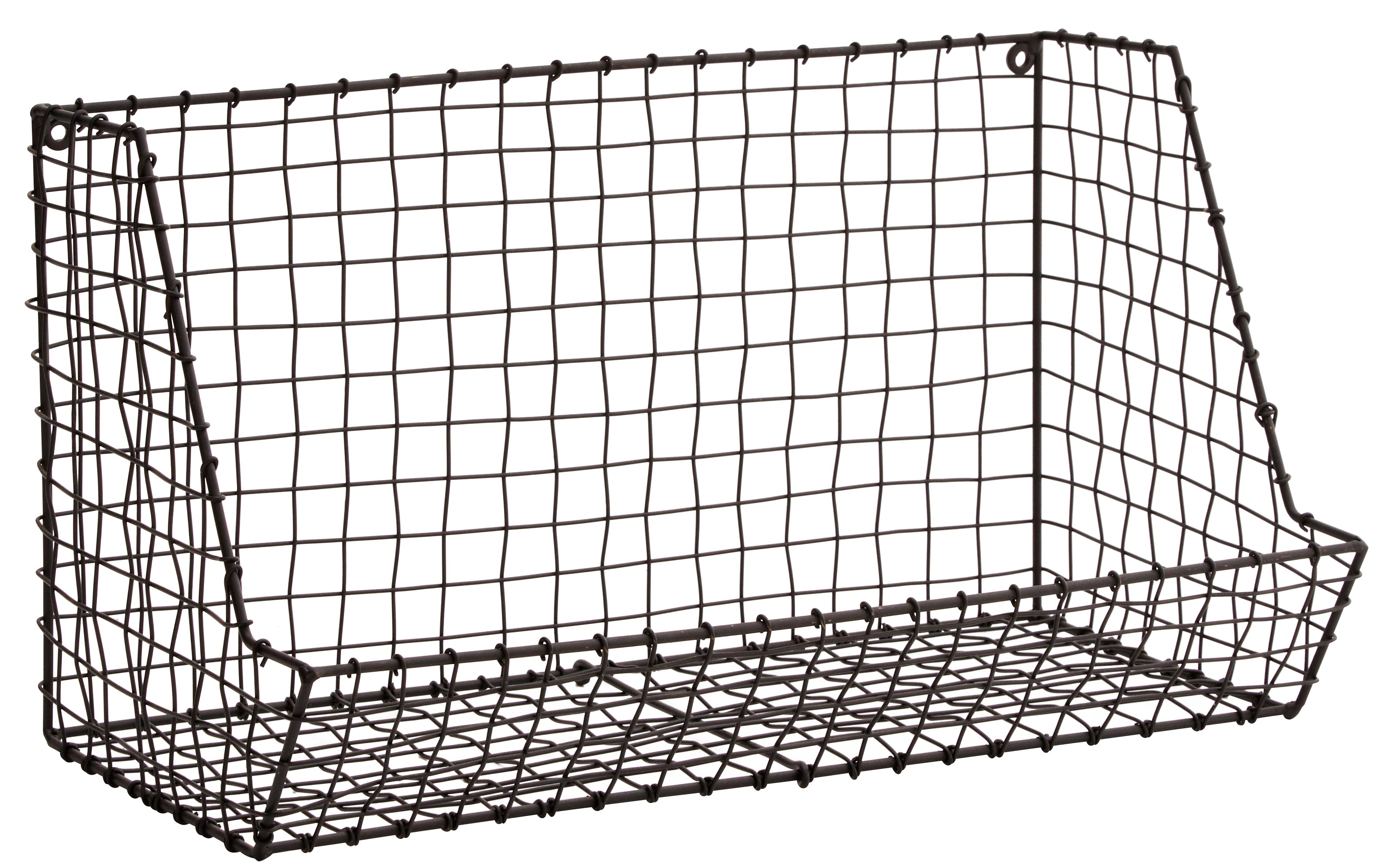 Wire Wall Rack in Matt Black