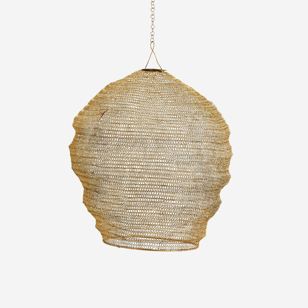Gold Wire Mesh Lightshade