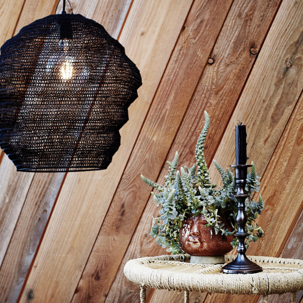 Black Wire Mesh Lightshade