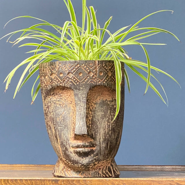 Ethnic Plant Pot with Face