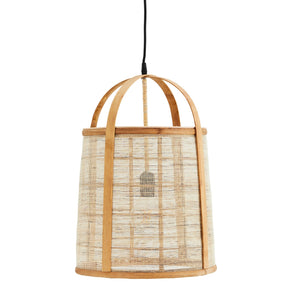 Bamboo and Linen Ceiling Lamp
