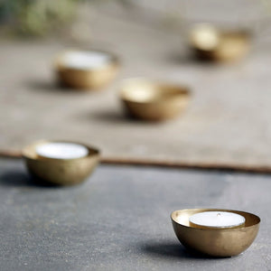 Egg Shaped Brass Tealight Holders