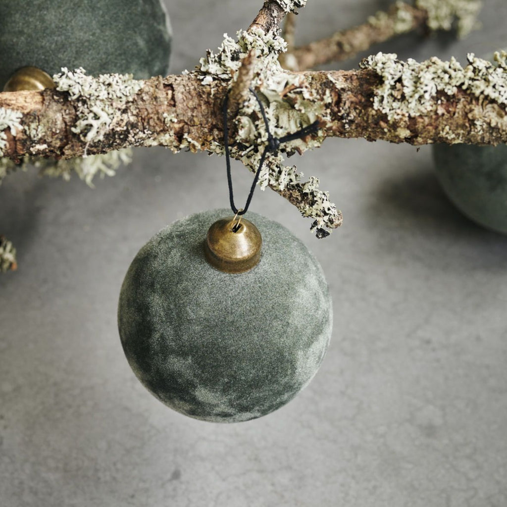 Green Velvet Bauble