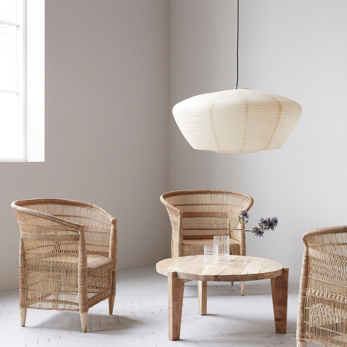 Rika Chair in Natural Rattan