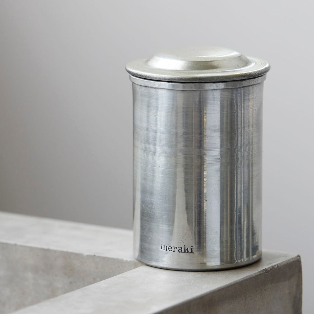 Silver Storage Jar with Lid