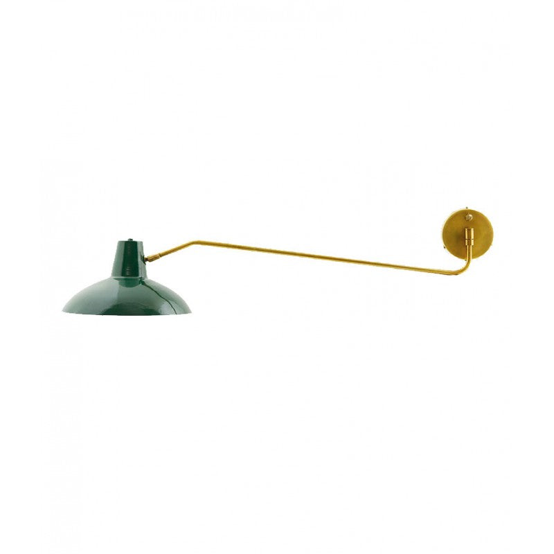 Wall Lamp in Brass with Green Shade