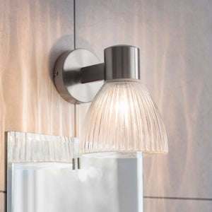 Ribbed Bathroom Wall Light