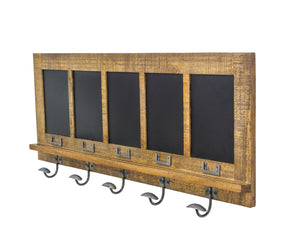 Industrial Blackboard Coathook Rack