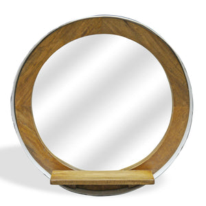 Porthole Mirror with Shelf