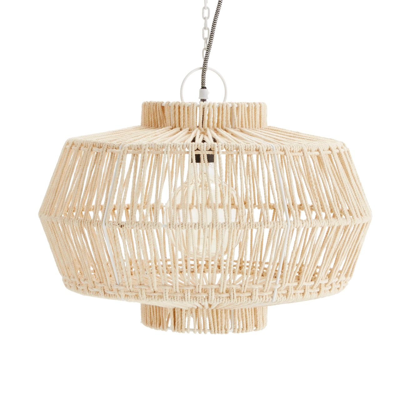 Beige Macrame Ceiling Light