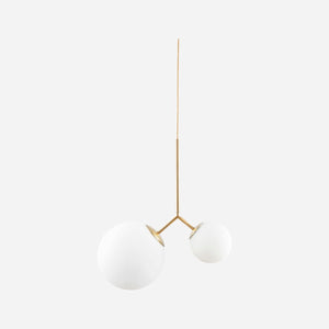 White Twice Globe Ceiling Light