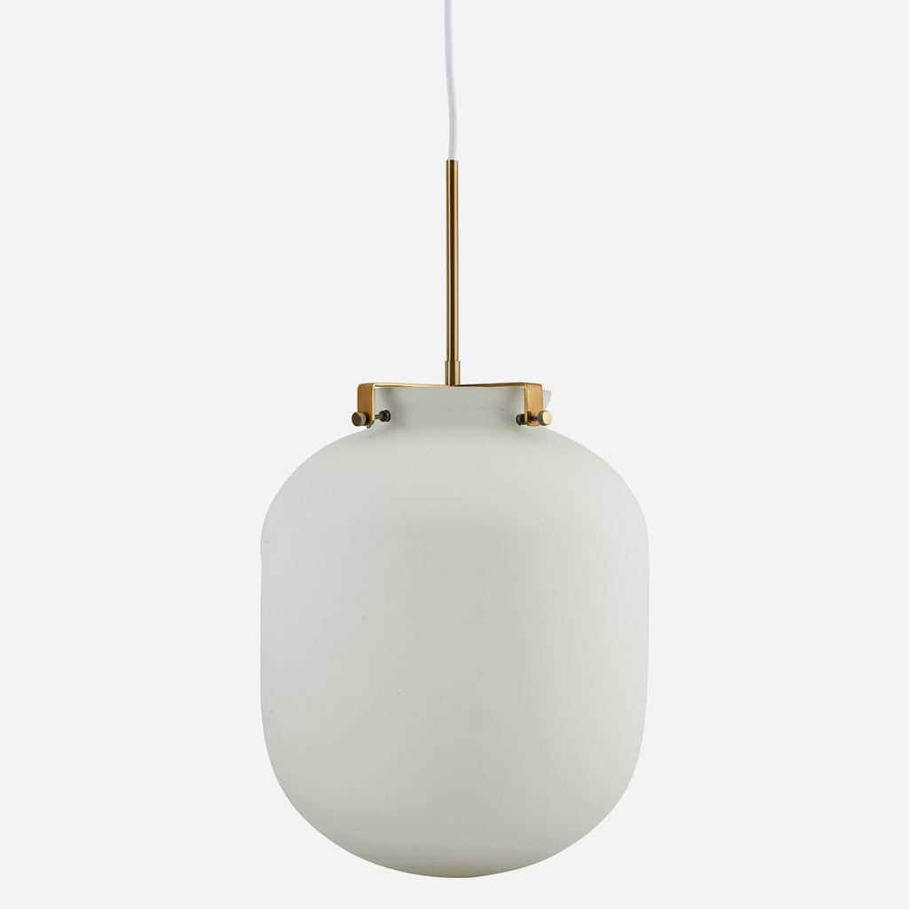 White Glass Ball Lamp