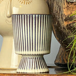 Striped Ceramic Small Planter