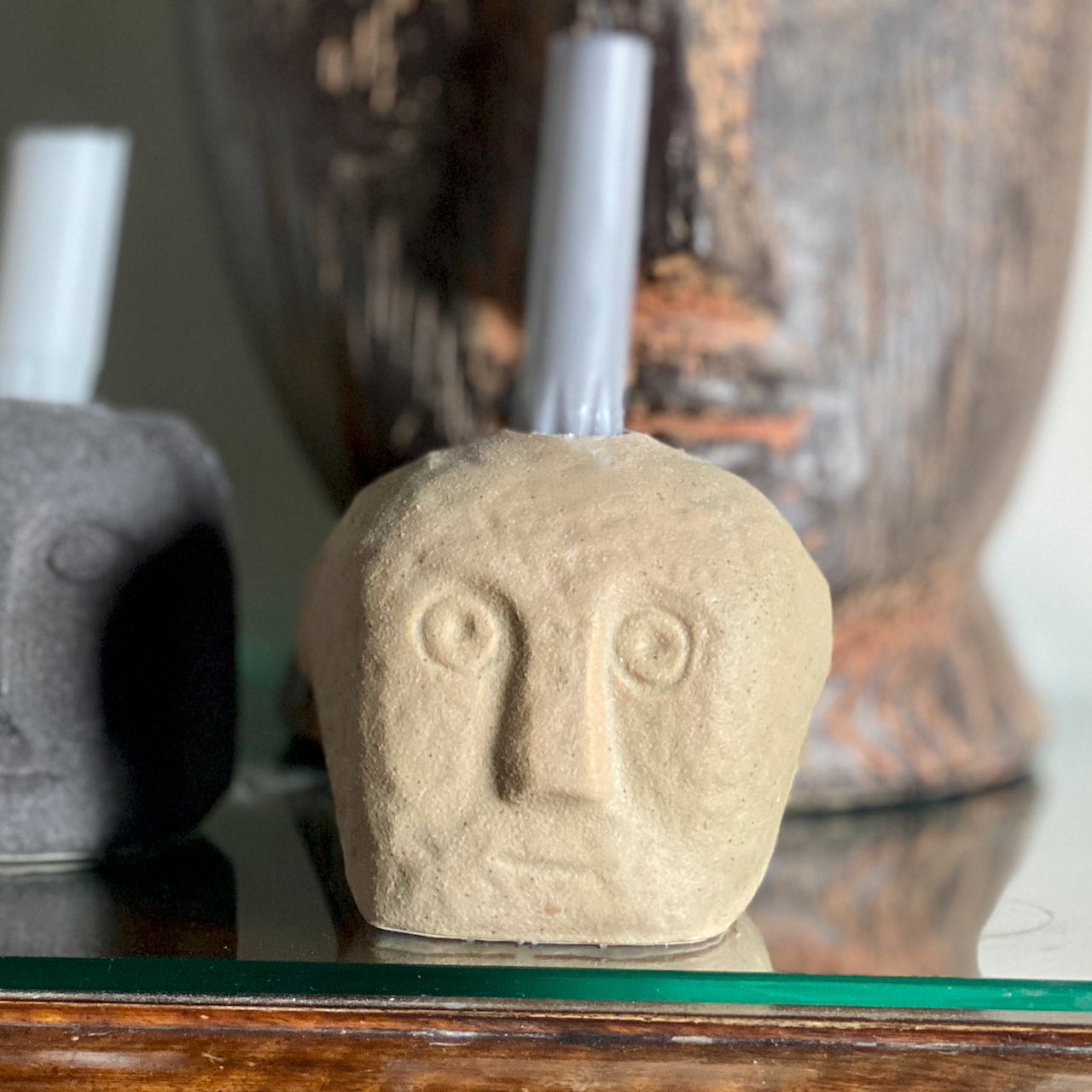 Candle Holder with Face Imprint