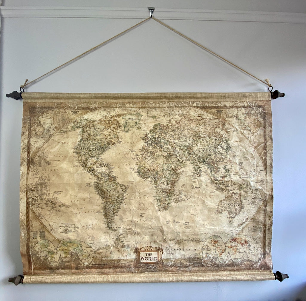 Vintage Effect World Map